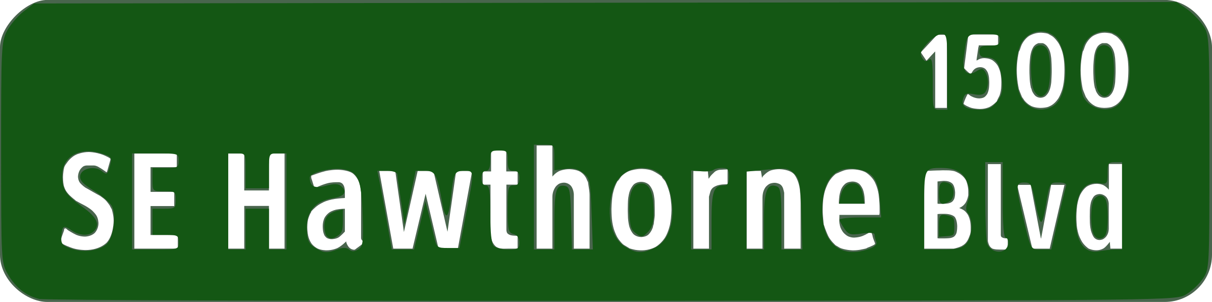 Portland Oregon street name sign: SE Hawthorne Blvd by missiridia