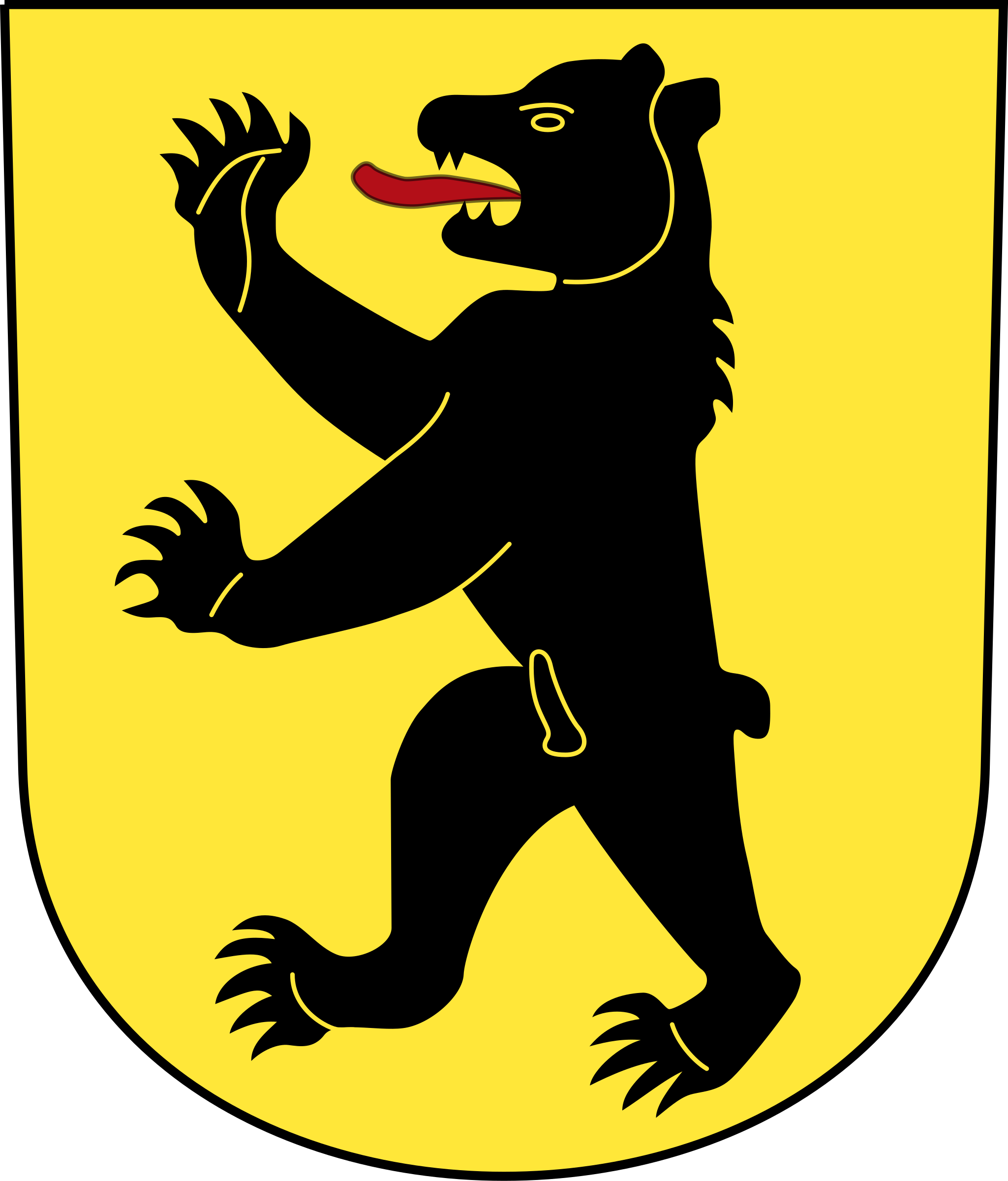 Swiss Bretzwil Coat of Arms as a Shield by wipp