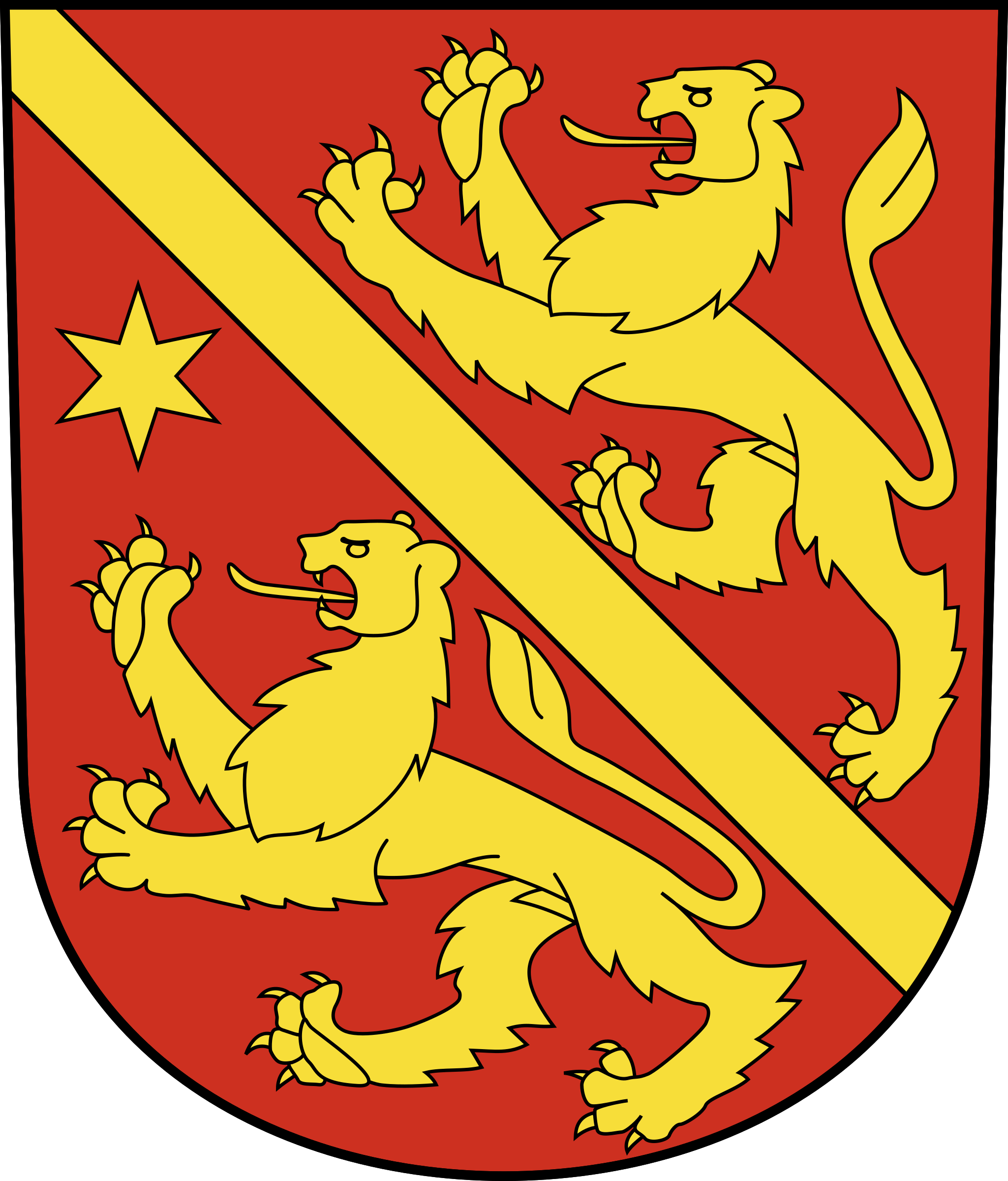 Swiss Andelfingen Coat of arms as a Shield by wipp