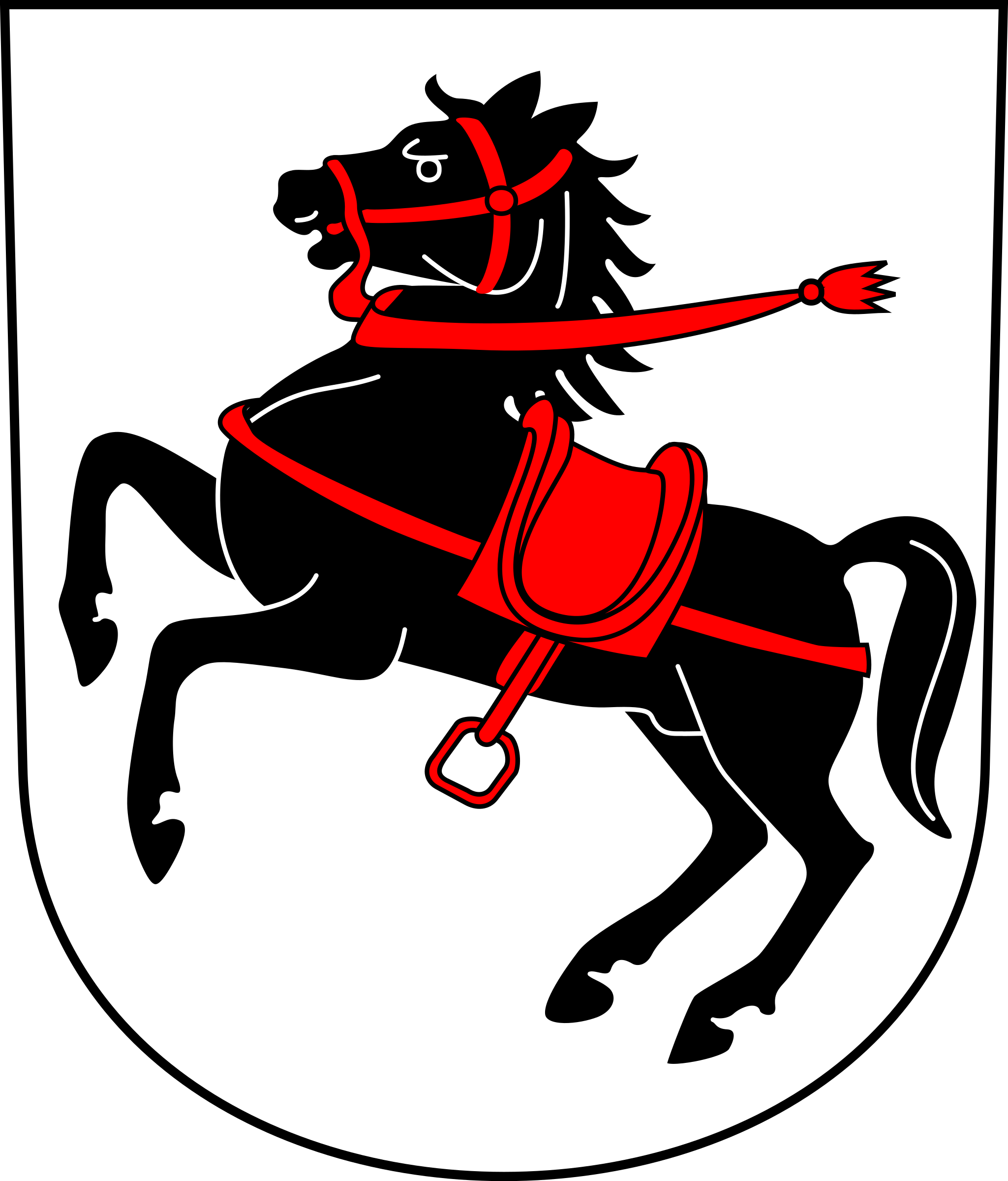 Swiss Seuzach Coat of arms as Shield by wipp
