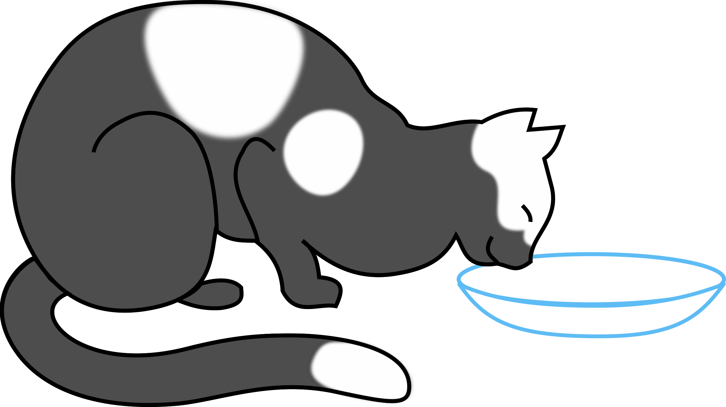 white cat drinking 2 by papapishu