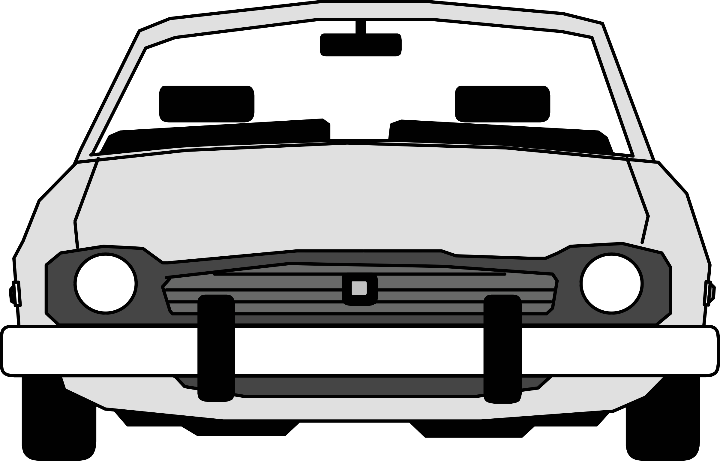 car front view by Anonymous