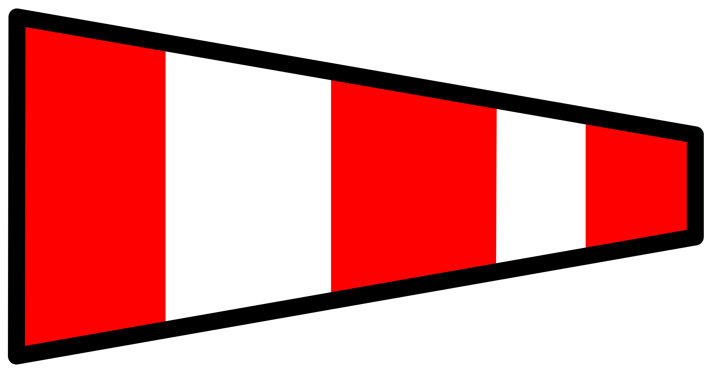 signal flag answering pennant by Anonymous