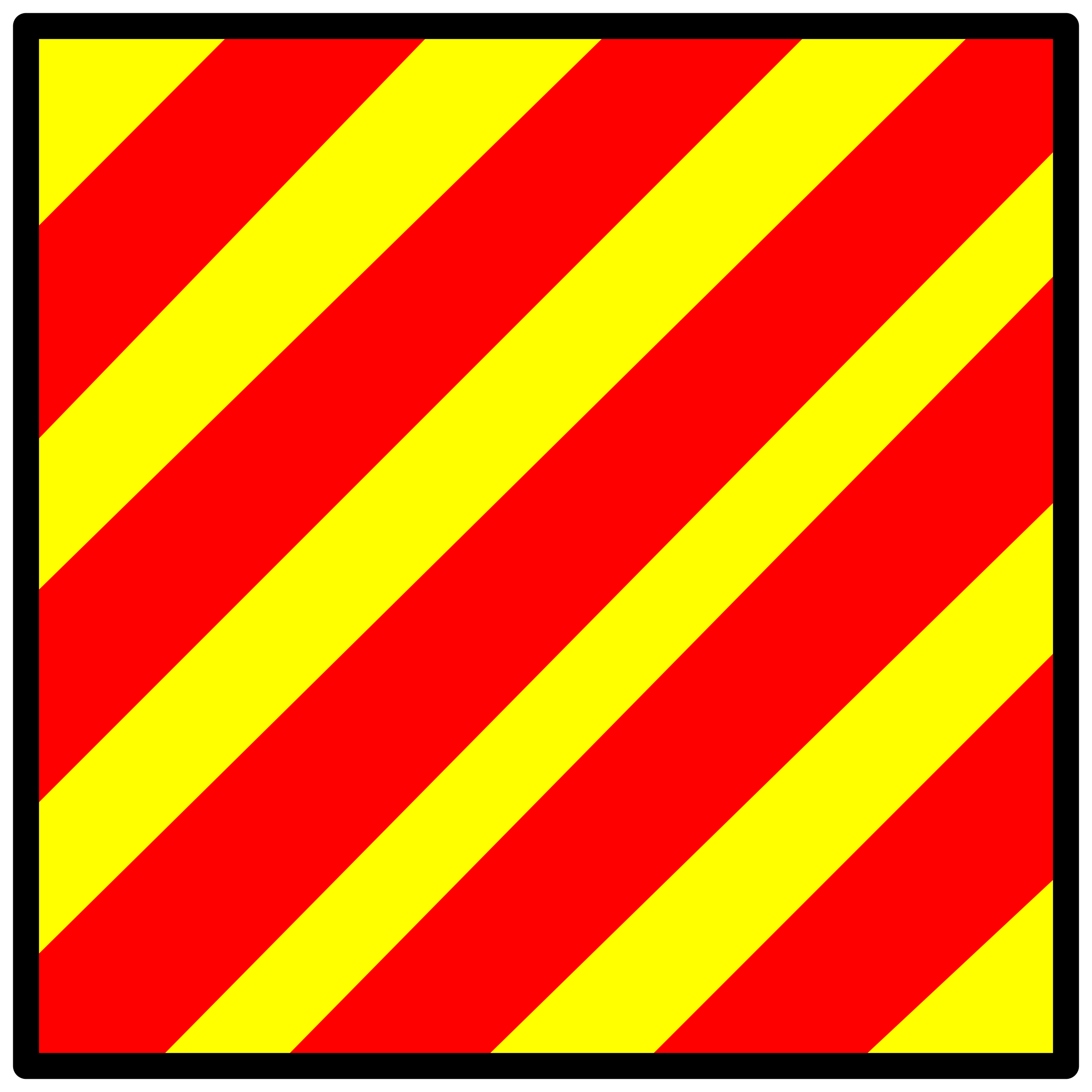 signal flag yankee by Anonymous