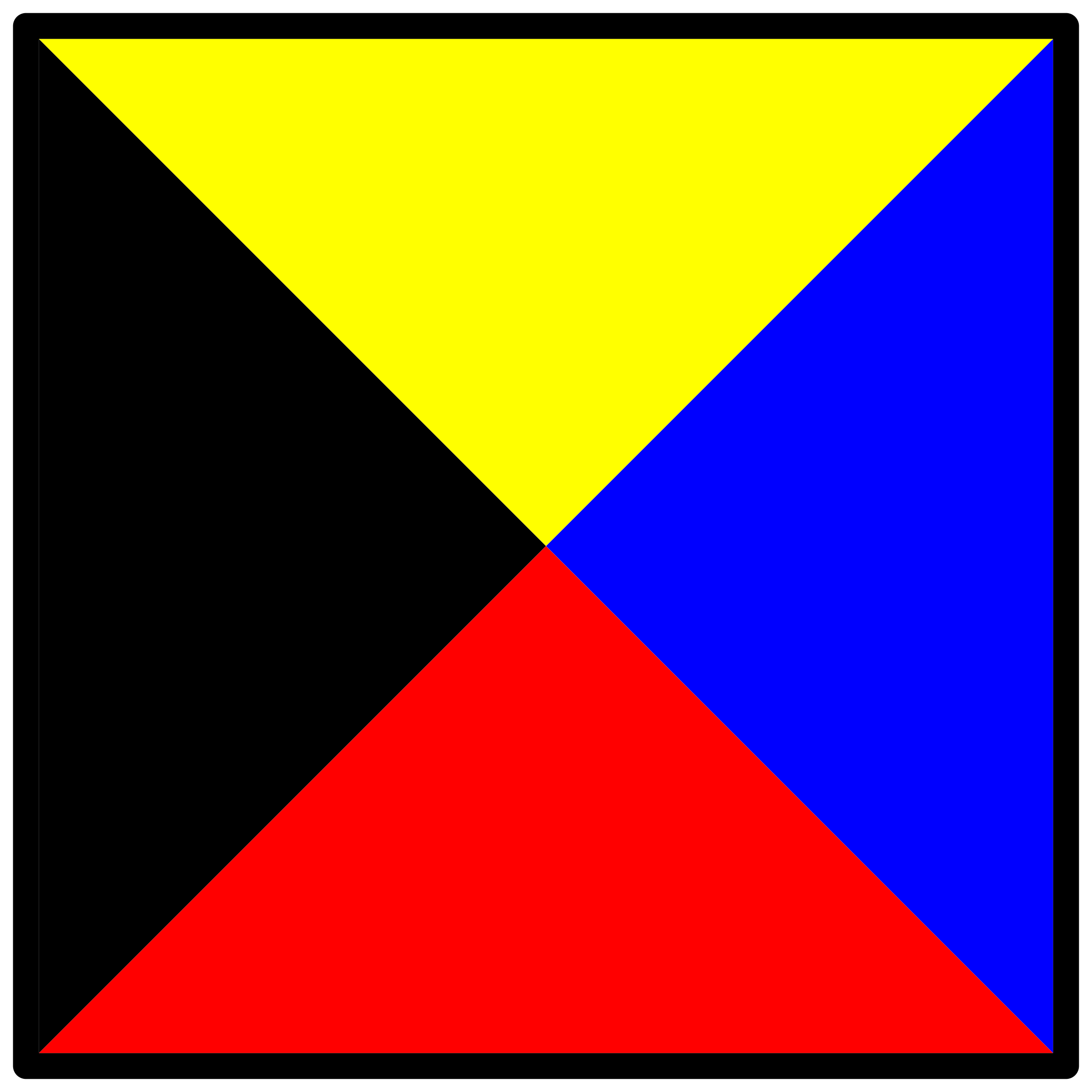 signal flag zulu by Anonymous