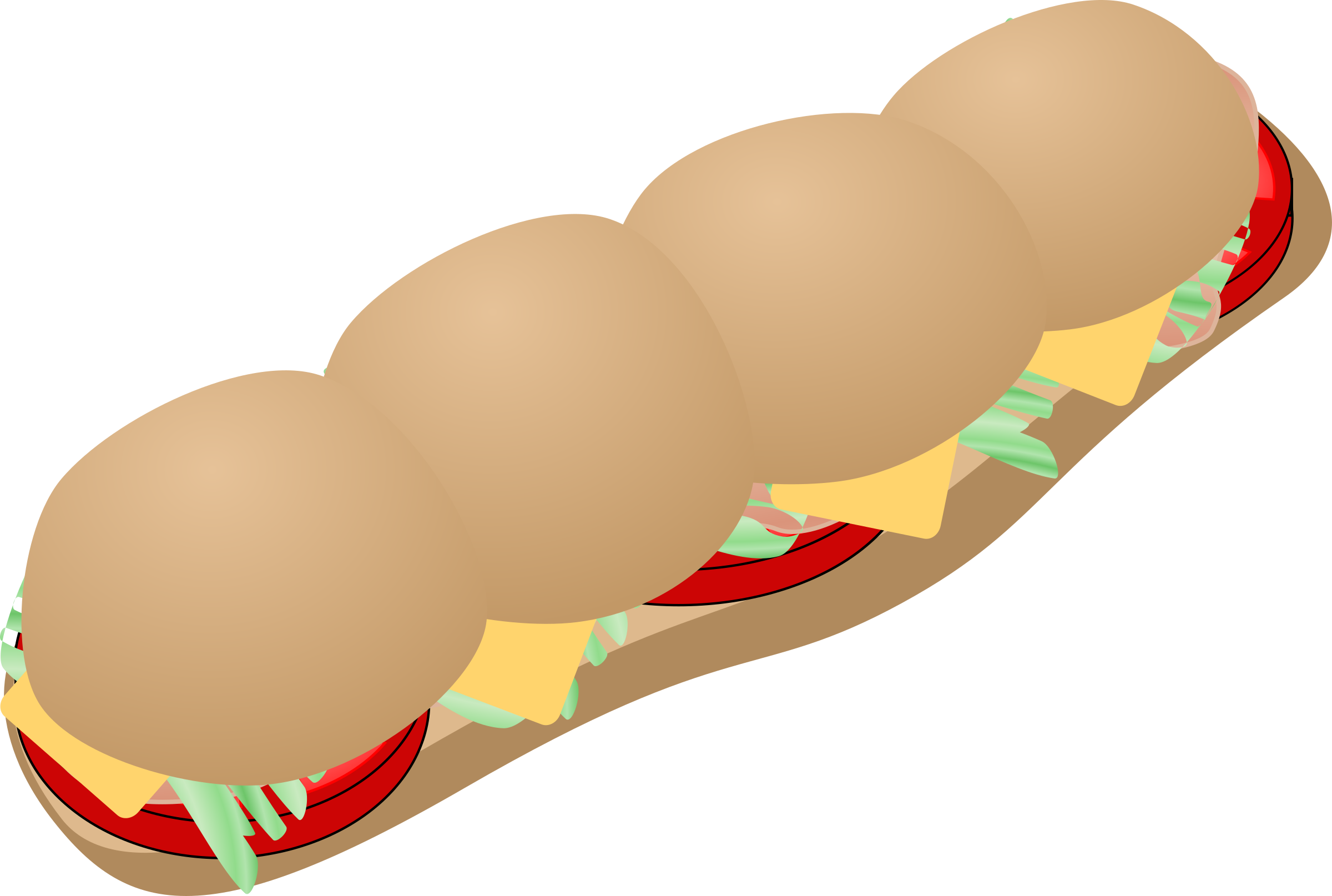 submarine sandwich by Anonymous