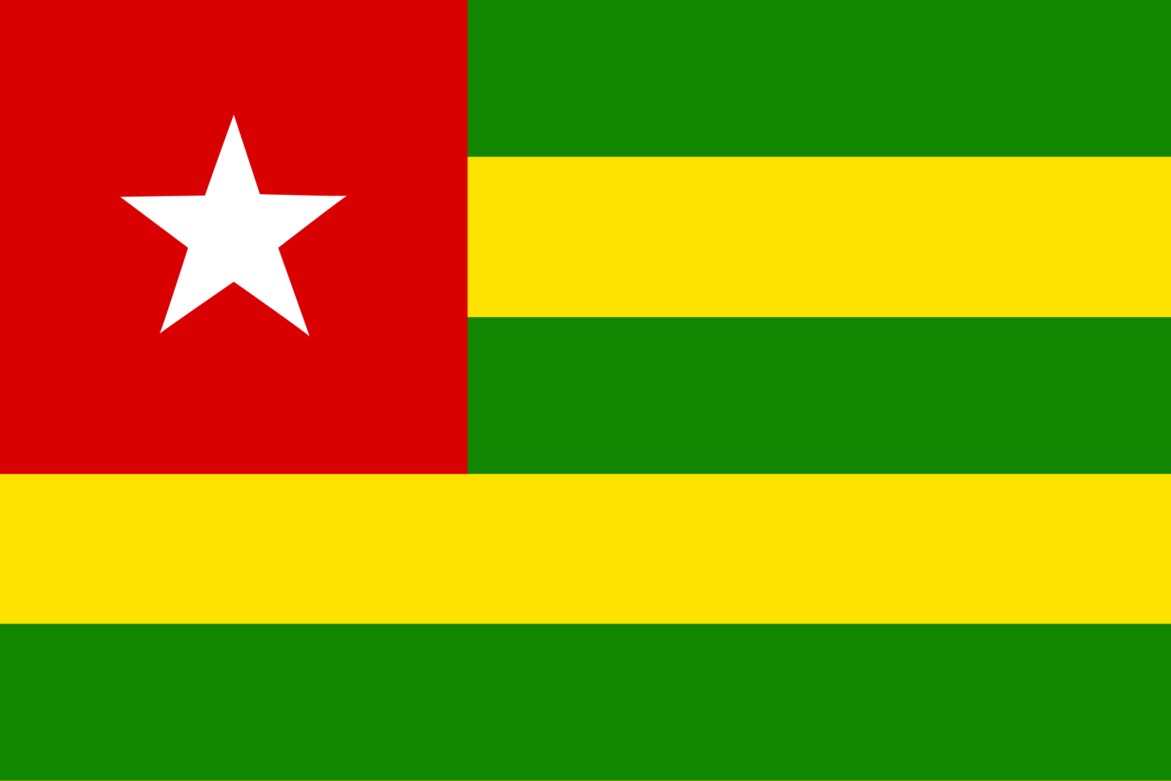 Flag of Togo by Anonymous