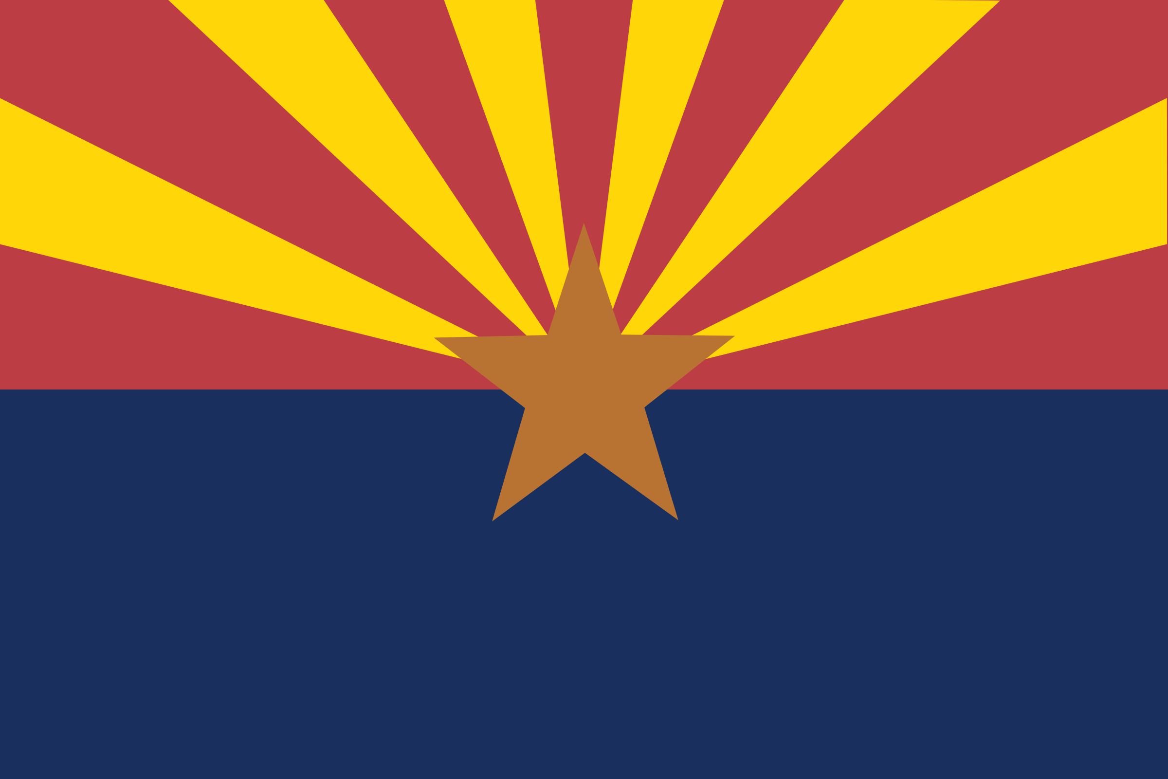 Arizona state flag by Anonymous