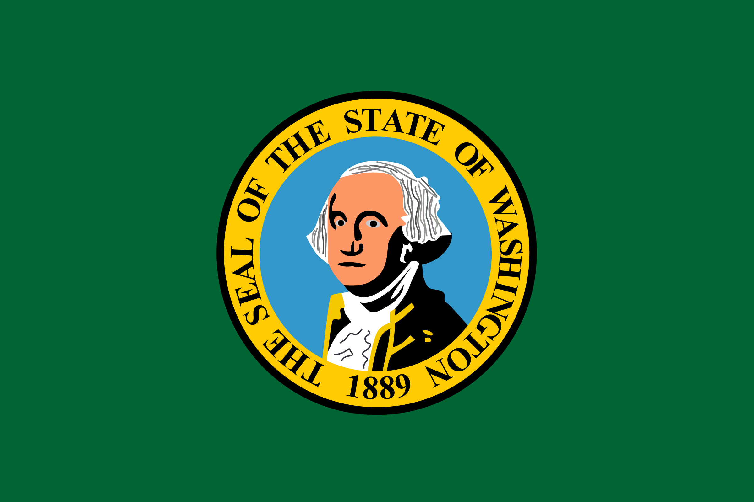 Washington state flag by Anonymous
