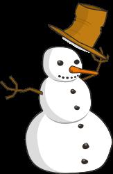 Hat Tip Snowman by schugschug - Snowman tipping his hat.