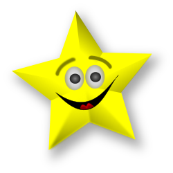 Smiling Star by Merlin2525 - A Smiling Star created with Inkscape.