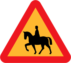 Horserider roadsign by ryanlerch - A sign warning of horseriders.