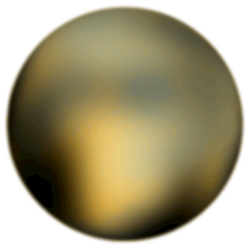 Pluto 180 degree face by merlin2525