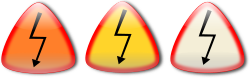 Electric shock. Choque electrico by Ehecatl1138 - Electric shock sign. Se�al de precaucion choque electrico.