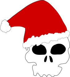 Santa skull by liftarn - A skull wearing a santa hat.