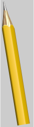 pencil by klk - simple yellow pencil
