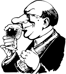 the beer snob by johnny_automatic - a beer snob or connoisseur from the 1906 Columbia County Wis. directory http://www.rootsweb.com/~wicolumb/1906_00a.jpg