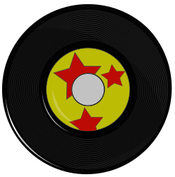Vintage Record by laurianne - Here is an Inkscape drawing of a vintage 45 record