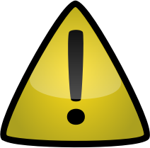 Warning icon by docguy - yellow warning icon