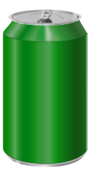 Green soda can by vectorscape - A green soda can svg created using only Inkscape 0.45