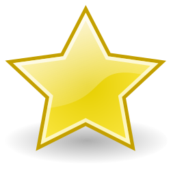 emblem-star by Rocket000 - Tango-styled star icon.