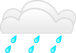overcloud rainfall by spite - for weather application or map