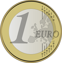 1 euro by lolonene - coin of 1 euro