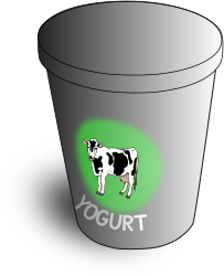 Yogurt by mazeo - A container of yogurt.