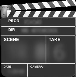 movie clapboard graphic