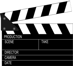 Movie Clapperboard by shuttermonkey - Simple example made while learning inkscape functionality. Please let me know if you find this useful or have suggestions to improve.