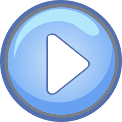 Vimeo play button blue