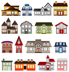 Simple Houses by Viscious-Speed -