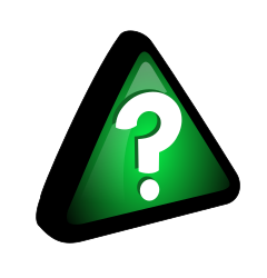 Green - Query Icon by ryanlerch - an icon using the triangle shape in the icons by molumen, but using a question mark instead of a exclamation mark.