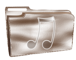 Folder icon plastic music by roshellin - Folder icon plastic music