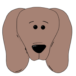 dog face 4 by zeimusu - the main version uses blur, use the no blur version if this causes problems.