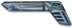 Futuristic Gun by Merlin2525 - An original futuristic gun by Merlin2525. Drawn with Inkscape. This is a layered image. Thanks go to Tagawa for the circuit board clip art that was used in the creation of this image. http://openclipart.org/detail/169900/circuit-board-by-tagawa