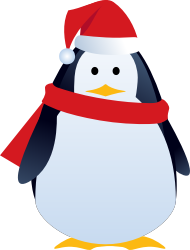 christmas penguin by LiesdeR - cute christmas penguin with hat and scarf
