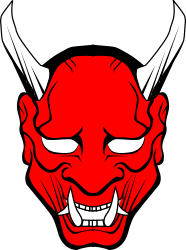 oni mask red  by stilg4r -