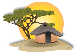 African Hut by gnokii -