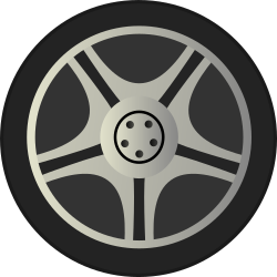 Wheeltires on Simple Car Wheel Tire Rims Side View By Qubodup   Just A Wheel Side