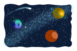 Space sketched by mi_brami - Simple space scene, sketched, Cosmic