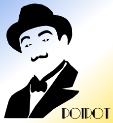 hercule_poirot by Almeidah - A stylized composition of the famous character from the books of Agatha Christie, the detective Hercule Poirot