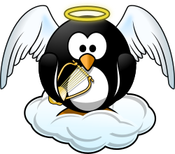 Penguin in Heaven by Moini - All penguins go to heaven, of course ;-)