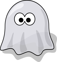 Cartoon ghost by lemmling -