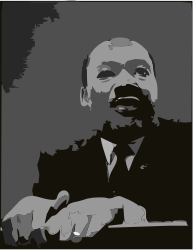 Martin luther king jr at pulpit remix