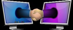 Computer handshake 1 by merlin2525