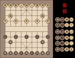 Xiangqi chinese chessboard