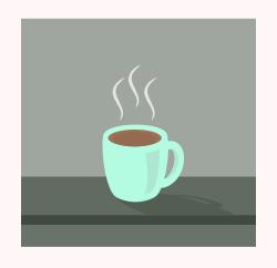 Coffee cup bw