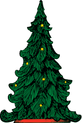Christmas tree by johnny_automatic - a detailed Christmas tree with star ornaments from a U.S. patent drawing