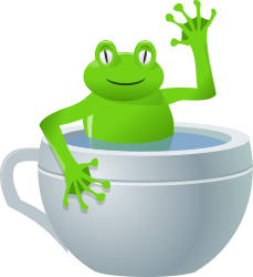 unexpected frog in my tea by rg1024 -